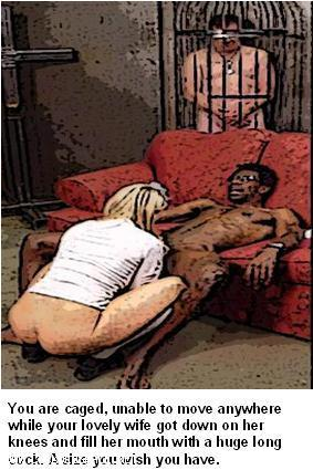 Caged hubby